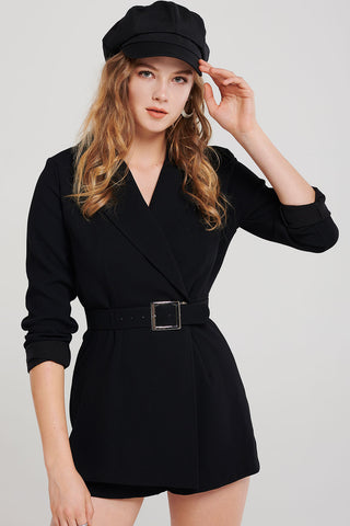 Miranda Wrapped Blazer Jumpsuit