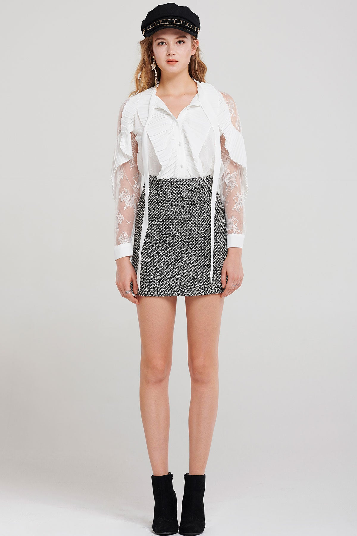 Fiora Tweed Mini Skirt-2 Colors
