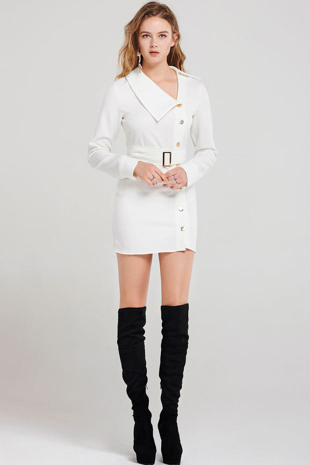 Elonia Side Collar Dress