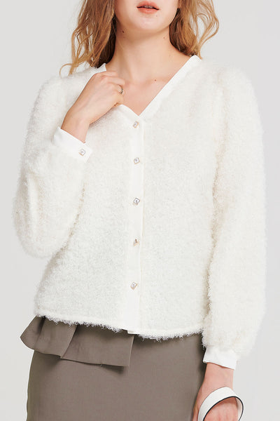 Stacy Fuzzy Cardigan