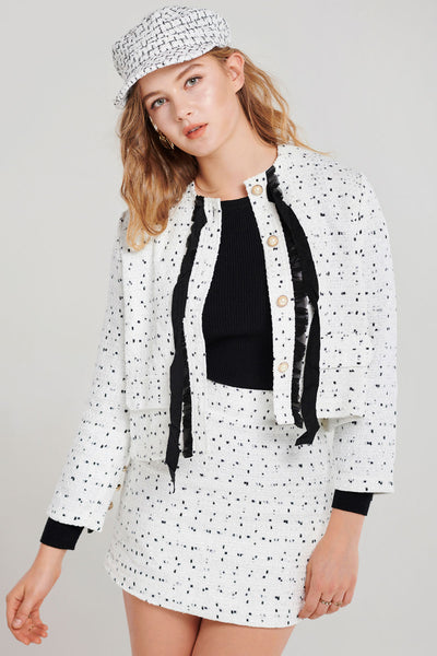 storets.com Bronwyn Classy Tweed Jacket and Skirt Set-2 Colors