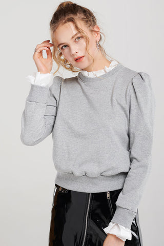 Mindy Puffed Layered Sweatshirt