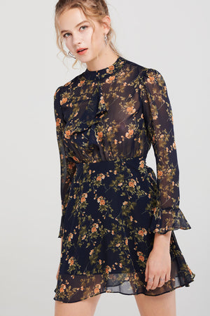 Arden Posy Ruffled Dress