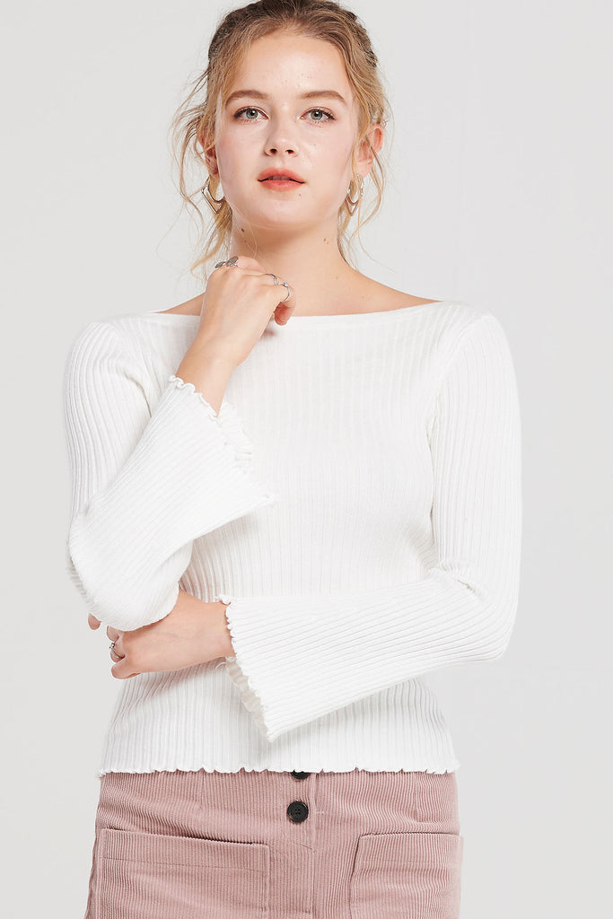 Parker Ribbed Boatneck Top-2 Colors