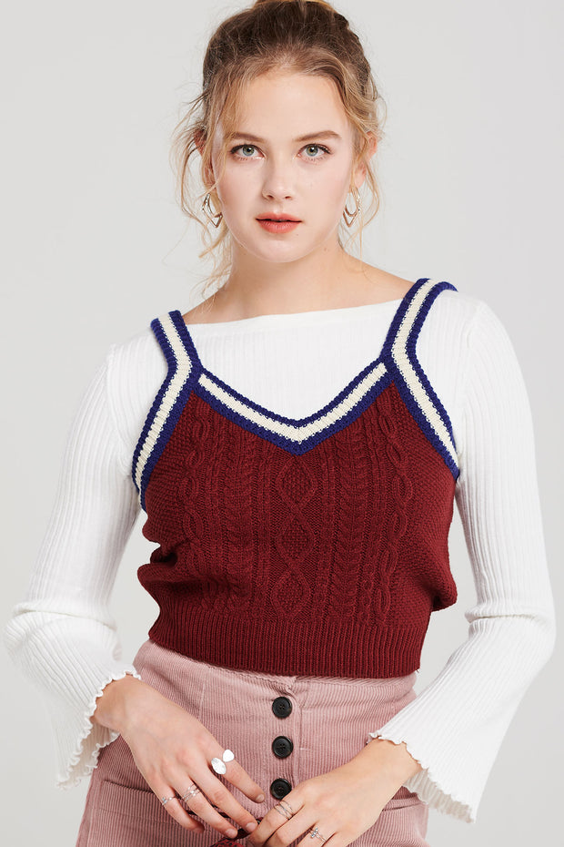Minnie Cabled Sleeveless Sweater
