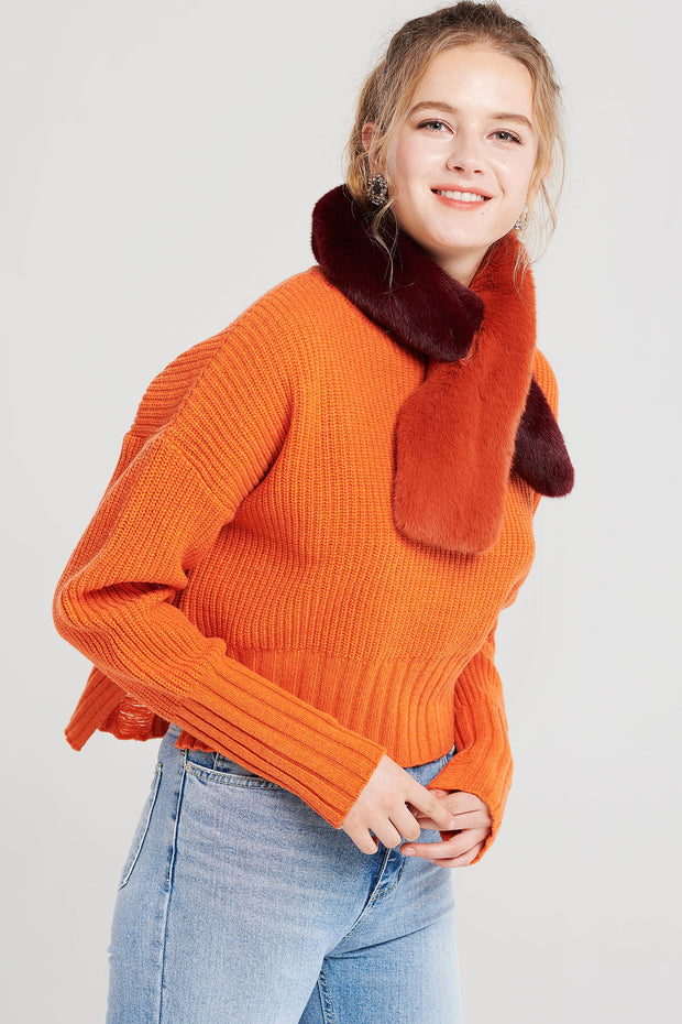 Aisha Cozy High Neck Sweater-2 Colors