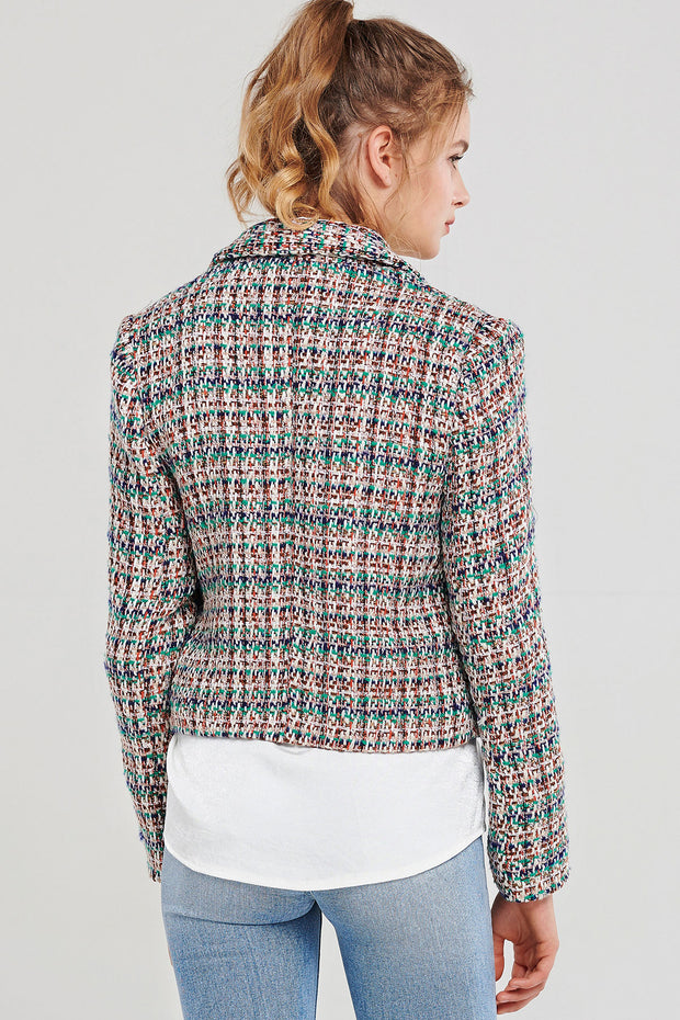 Ramona Rainbow Tweed Jacket