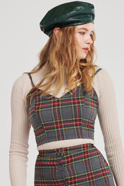 Nancy Classic Plaid Top