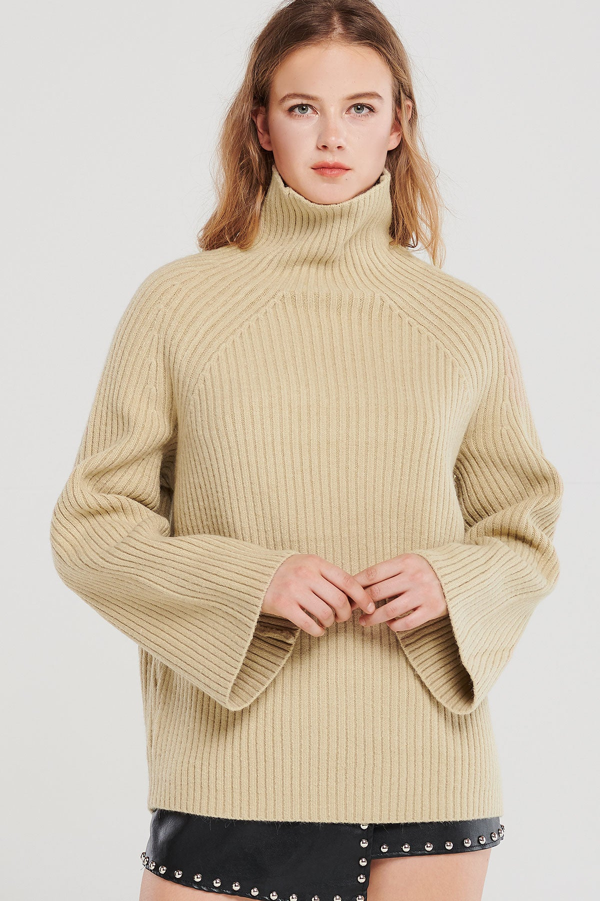Paige Ribbed Turtleneck-2 Colors