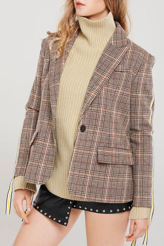 Tori Side Tape Plaid Jacket