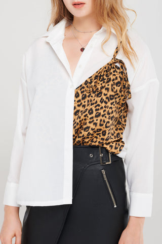 Christie Leopard Layered Blouse
