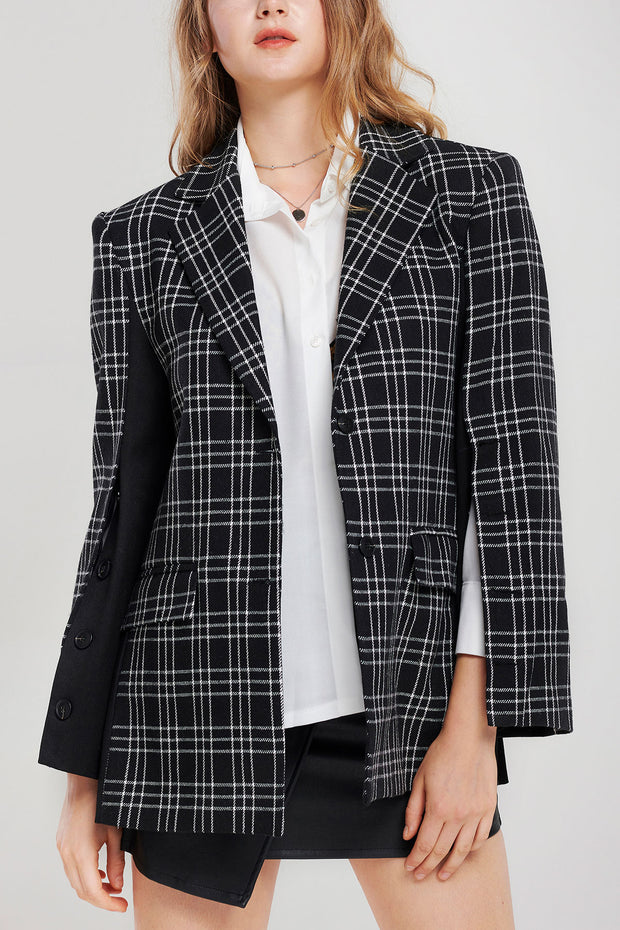 Elizabeth Lined Up Blazer