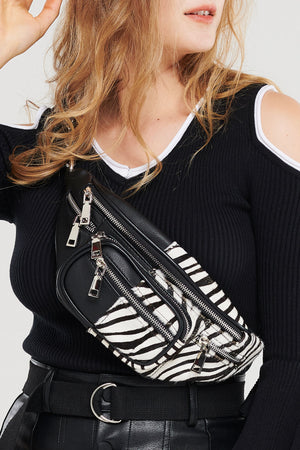 Half Zebra Belt Bag