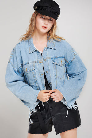 Alice Tattered Denim Jacket (Pre-Order)
