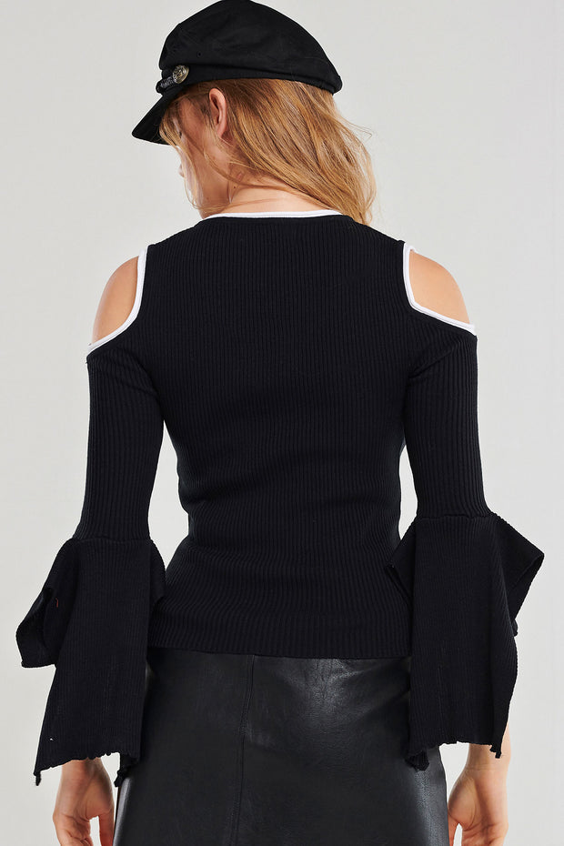 storets.com Juliet Coldshoulder Knit Top