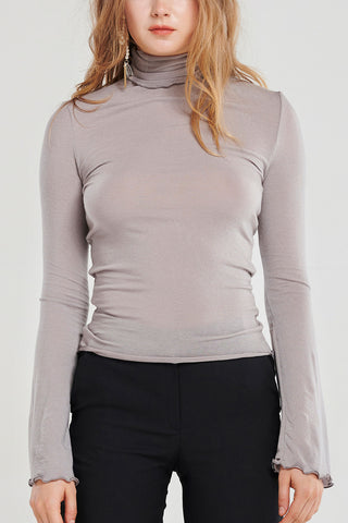Basic Lightweight Turtleneck Top