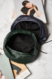 Simple Pleather Beret-3 Colors