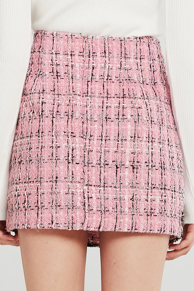 Kate Trimmed Tweed Skirt