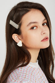Crystal Embellished Square Hair Clip