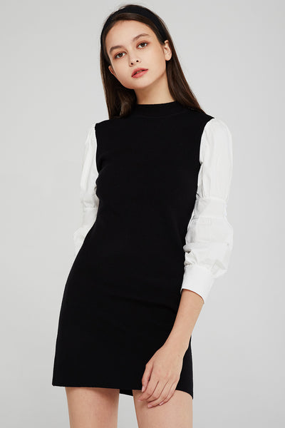 Isabel Shirt Combo Knit Dress