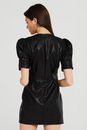 Melody Puff Sleeve Pleather Dress
