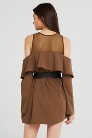 Kylie Cold Shoulder Ruffle Dress