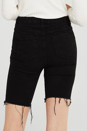 Joy Frayed Denim Cycle Shorts