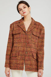 Brynn Oversized Tweed Blazer