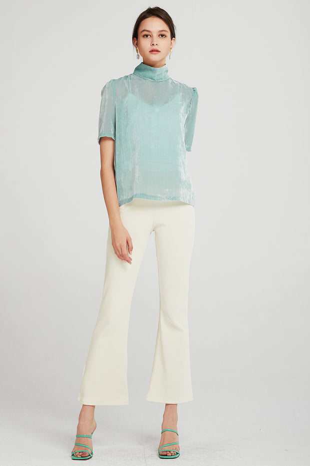 Esther Textured Sheer Blouse