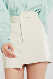 Annie Patent Pleather Asymmetric Skirt