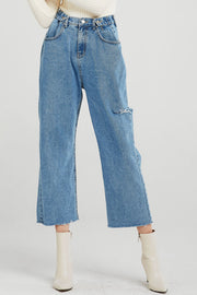 storets.com Serena Side Cut-out Mom Jeans