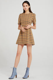 Naomi Pintuck Tweed Dress