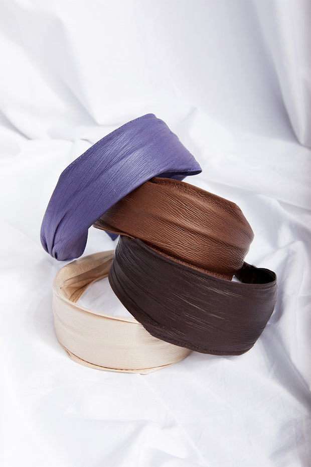 Wide Pleather Hair Band