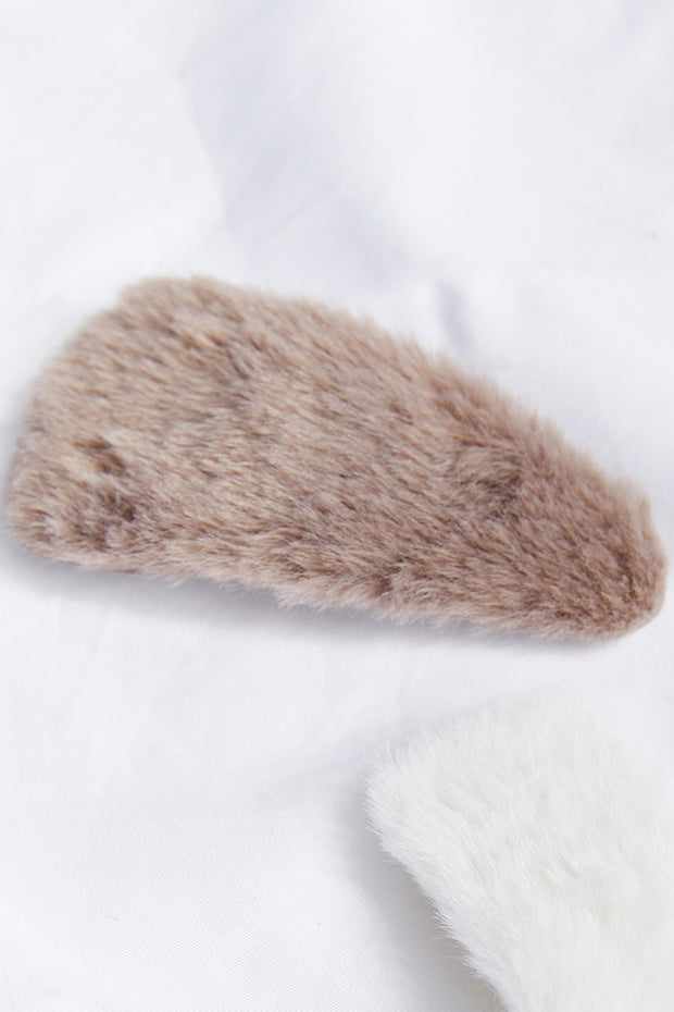 Furry Hair Pin Set
