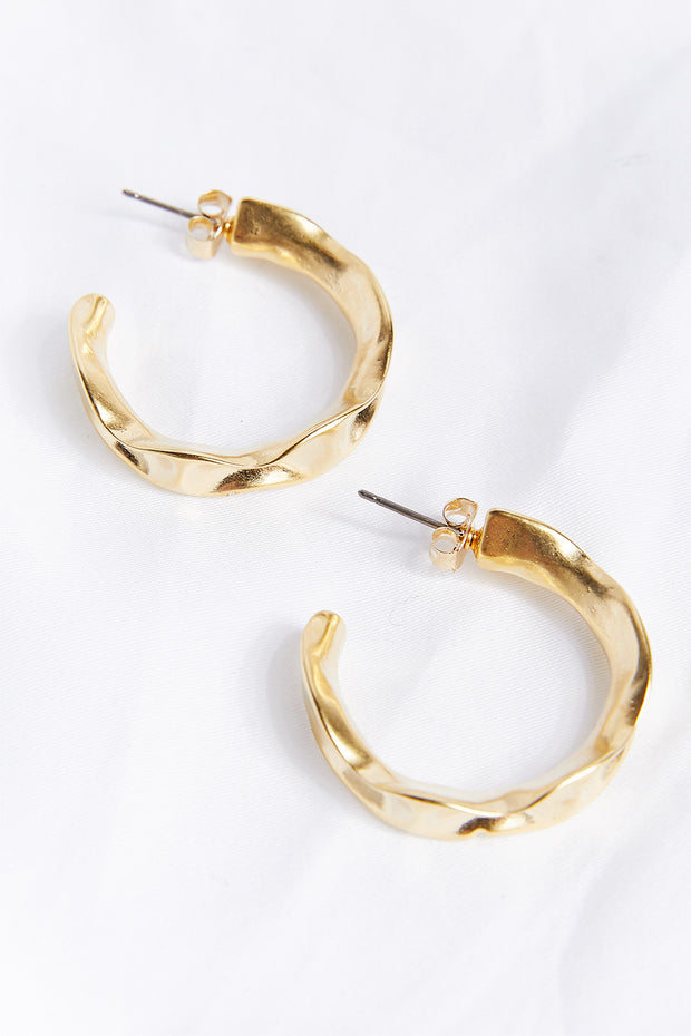 storets.com Twist Hoop Earrings