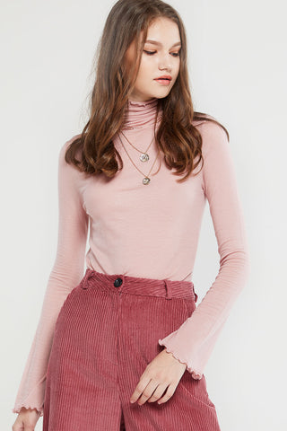 Basic Lightweight Turtleneck Top-2 Colors