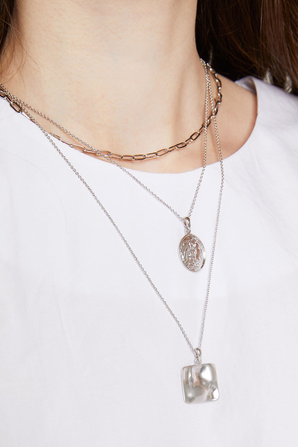 Layered Punctured Necklace