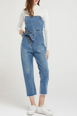 Cory Buttoned Denim Jumpsuit