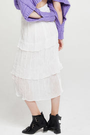 Carmen Tiered And Pleated Skirt
