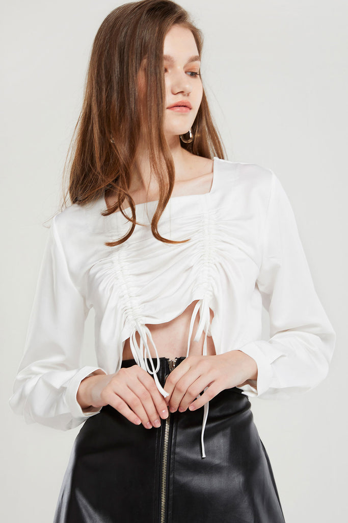 Molly Square Neck Blouse-2 Colors