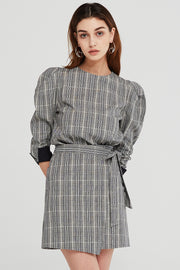 Cora Plaid Check Wrap Skirt