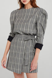 Cora Plaid Check Blouse