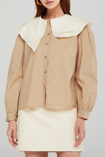 Morgan Contrast Collar Shirt