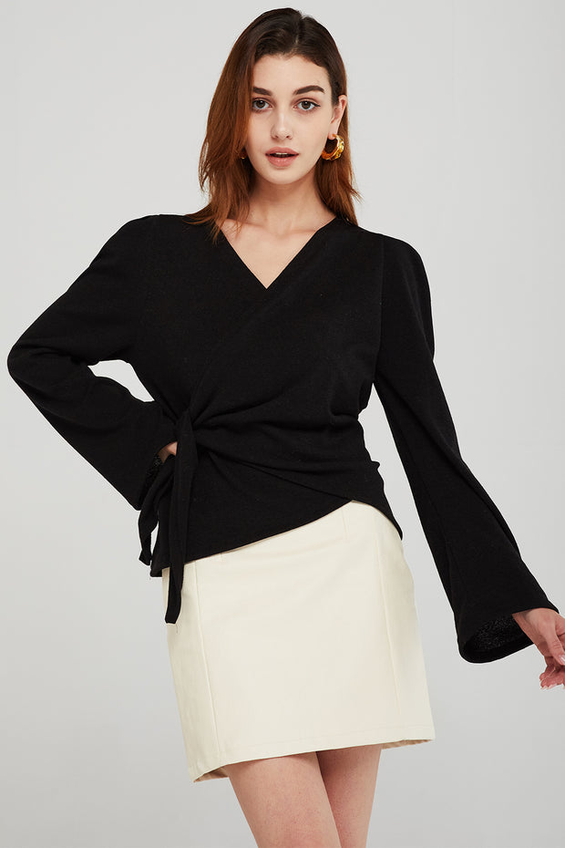 Sydney Belted Wrap Top
