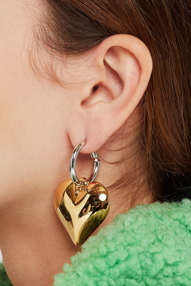 Heart Dangle Drop Earrings