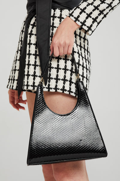 Textured Pleather Hobo Bag