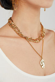 Bold Chain Choker Layered Necklace