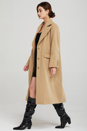 Penelope Wide Lapel Long Coat