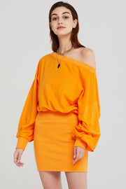 Katie Off-the-Shoulder Sweat Dress