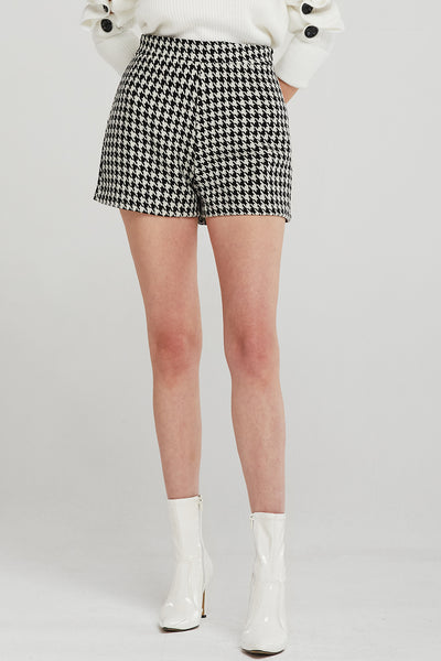 Camila Houndstooth Shorts